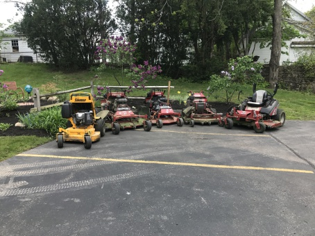 Fleet of lawnmowers